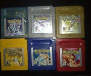 Pokemon Red Blue Yellow Gold Silver Crystal