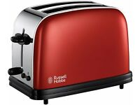 russell hobbs colours toaster in red - immaculate condition!