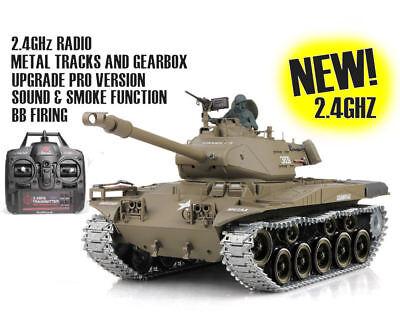 Heng Long Remote Control RC Tank M41A3 Bulldog NEW METAL GEARBOX VERSION 2.4GHz