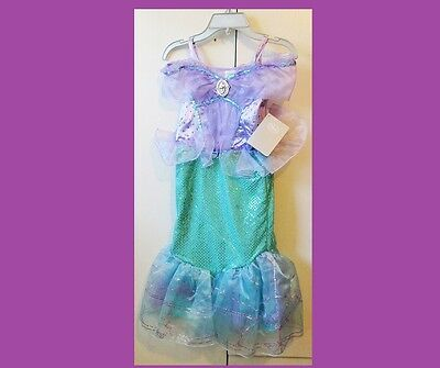 DISNEY Little Mermaid Princess Ariel Dress Costume NEW Girls 5/6 ** Exquisite