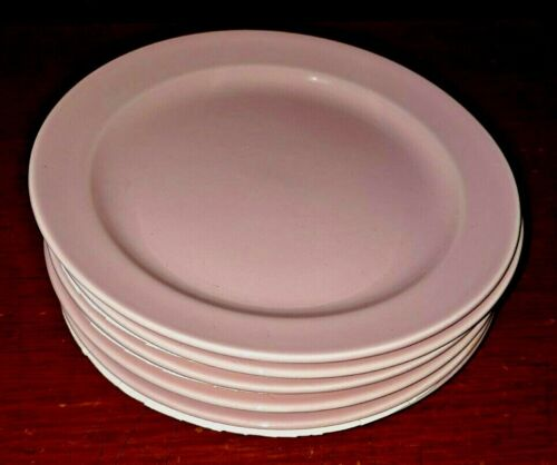 Lu-ray Pastels Set of 6 Sharon Pink Bread And Butter Plates T.S. & T. Vintage