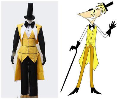 Cartoon Gravity Falls Bill Cipher Human Cosplay Costume](Cartoon Costume)