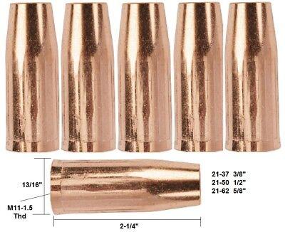 5 Mig Welding Nozzles 21-50 12 Fits Tweco Mini1 Lincoln Magnum 100