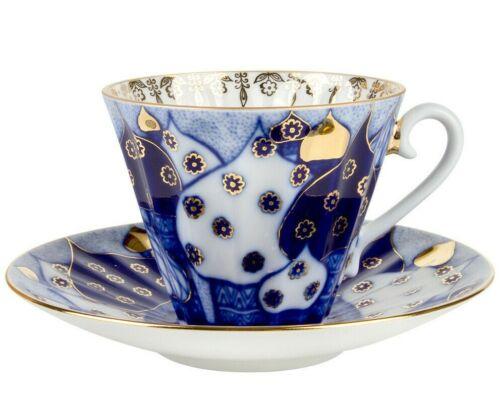 Chimes Teacup w/ Saucer by Imperial Porcelain Russian Lomonosov LFZ IFZ