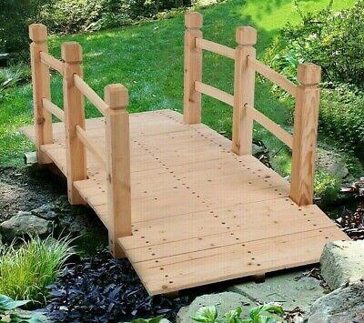 Arch Garden Wooden Bridge Rustic Fir Wood Outdoor Patio Decor Backyard Pond UK