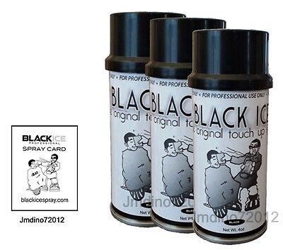 3 Black Ice Chromatone Hair Color Spray - Black - 4 Oz + Spray Card](Hair Color Sprays)