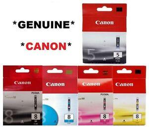 5x Genuine Ink cartridges PGI 5BK CLI 8 for Canon Printer ip4300/ip4500/MP600