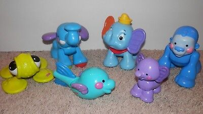 Fisher Price Amazing Animals Roll Along Musical Ark RARE Gorilla,dumbo elephant