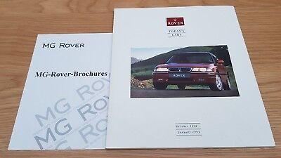Rover Today's Cars 1992/93 800 400 200 Metro Montego Mini Maestro Brochure