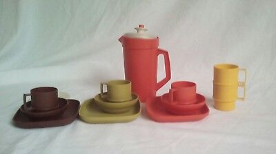 Vintage Mixed Lot  of Tupperware Child Toy Dishes 1970s