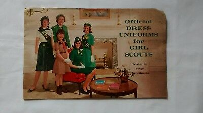 Vintage Official Dress Uniforms For Girl Scouts Book Catalogue c. 1950s 1960s (Catalogues For Clothes)