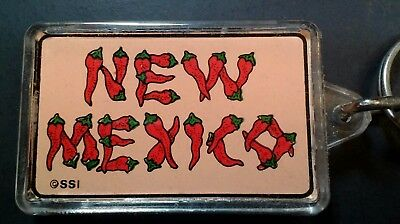 VTG Collectible Acrylic Key Chain NEW MEXICO PEPPERS THERMOMETER RARE VHTF