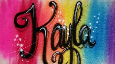 Couple Themes (Custom Personalized Airbrushed Shirt!  Rainbow Themed Name Monogram)