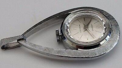 Vintage Silver Tone Lucerne Antimagnetic Teardrop Pendant Watch - Wind Up