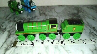 Authentic Thomas & Friends Magnetic Wooden HENRY & HENRY'S TENDER Train Car #21