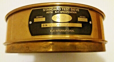 Ele International Test Sieve No. 40 Mesh 0.0165 425um Astm E-11 8 Wide 2 High