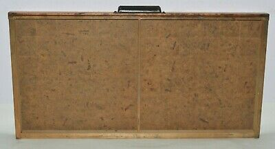 Vintage Printers Type Drawer Shadow Box Full Size Case 2 Compartment