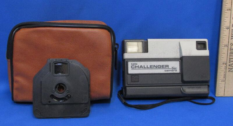 Vintage Kodak Tele Challenger Disc Camera With Carrying Case & 2 Discs