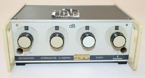 Siemens D2053 Variable Attenuator, 0-200MHz, Untested hs