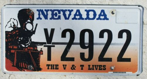 Nevada V & T Railroad License Plate
