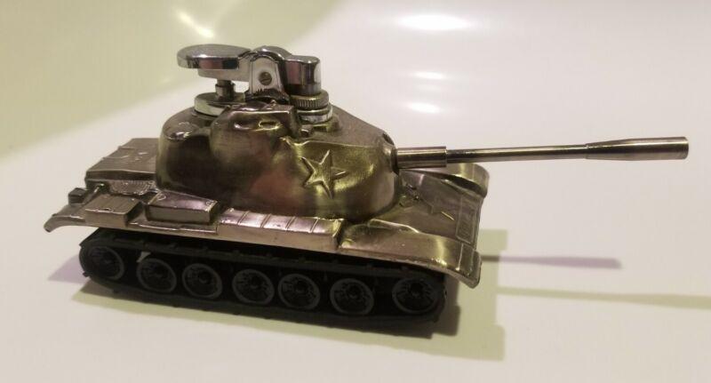 Unique US Army M60 1A Tank Shaped Butane CIGARETTE Lighter Japan Mint Condition