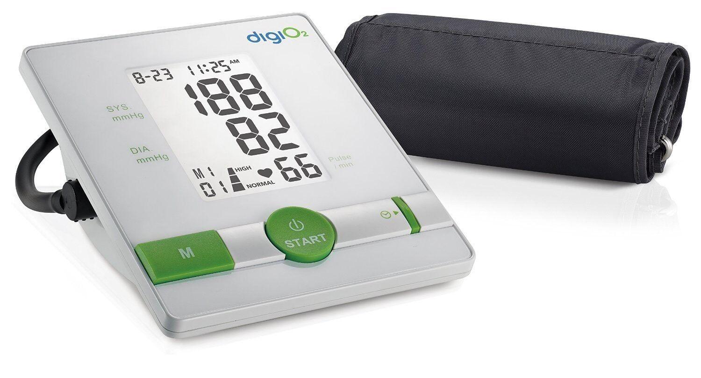 DigiO2 Digitales Oberarm-Blutdruckmessgerät Blutdruckmesser WHO IHB Indikator