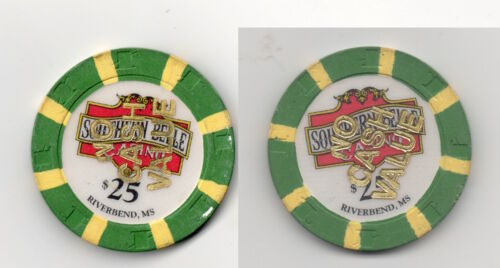 Southern Belle Casino Riverbend Mississippi NCV $25 Tournament Poker Gaming Chip
