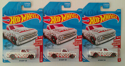 2019 HOT WHEELS P CASE TARGET RED EDITION '67 CHEVY C10 LOT OF 3