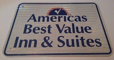 AMERICAS BEST VALUE INN & SUITES - Original Rare Hotel Motel SIGN Advertising