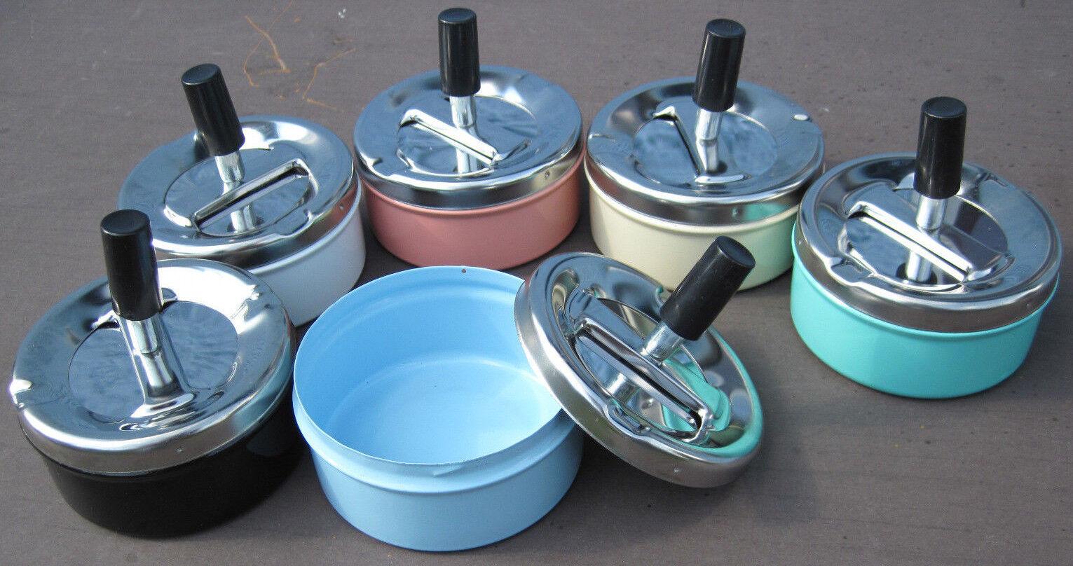 Drehaschenbecher Metall Aschenbecher verschiedene Farben Ascher Windaschenbecher
