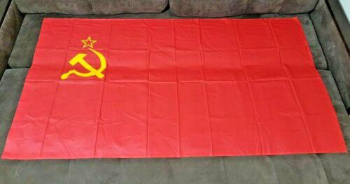 Soviet Flag Hammer & Sickle USSR Red Banner 180х90.1988 .NEW. Very big.Original