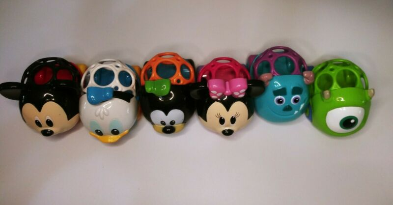 3 Kids II Ball Cars Vehicles Disney Mickey Mouse, Mini Mouse, and Donald,Monster