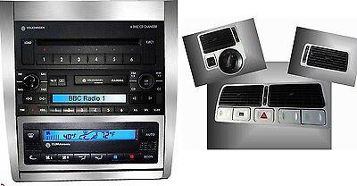 2 Set alu  console Climatronic & bocchette aria VW GOLF 4 IV,Jetta,Bora - Jetta Seta