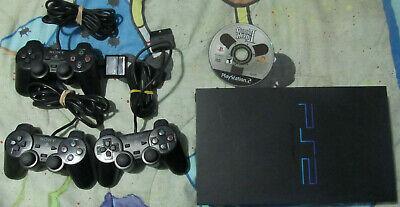 PlayStation 2 (PS2) Console Black (SCPH-39001) w/ Official Original Controllers