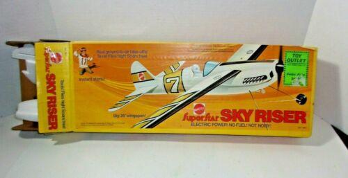 Mattel SUPERSTAR SKY RISER Electric Power Plane # 7601 Airplane Vintage Toy