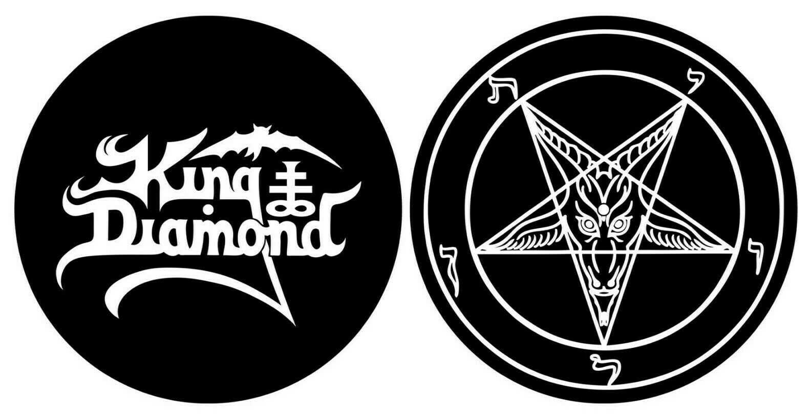 KING DIAMOND DJ SLIPMAT FILZMATTE LOGO PENTAGRAM - 2er SET