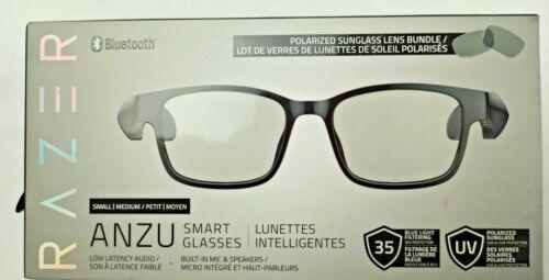 Razer Anzu Smart Glasses Small Rectangle Frame Bundle w/ Blue Light & Polarized