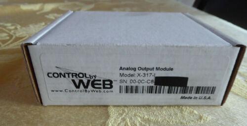 NEW XYTRONIX CONTROL BY WEB X-317 ANALOG OUTPUT MODULE CONTROLBYWEB