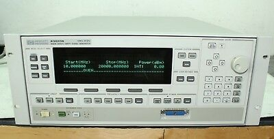 Hp 83620b Synthesized Swept Signal Generator 10 Mhz - 20 Ghz 004 008 Calibrated