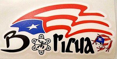 PUERTO RICO BORICUA flag Decal Sticker with coqui