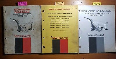 New Holland 880 Forage Harvester Owner Operator Manual 67 Parts 70 Service 68