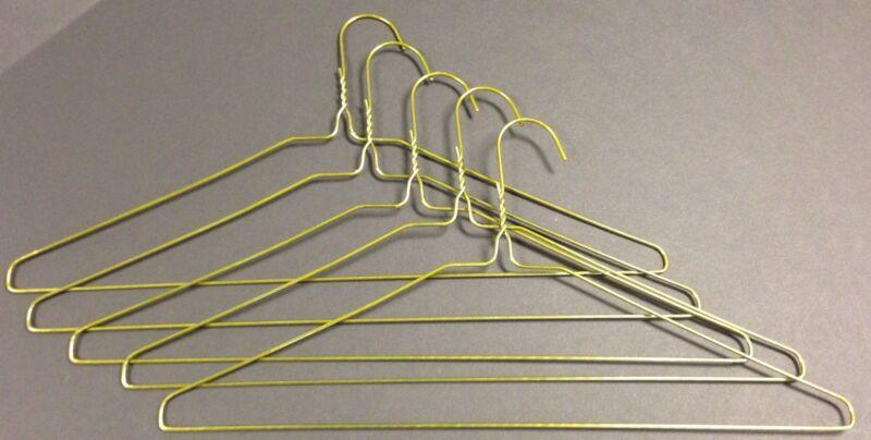 """Case of 500 13 Gauge 16"""" Wire Suit Hangers Gold ***NEW***"""
