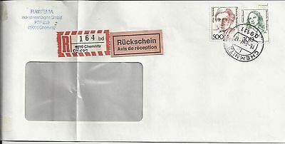 BRD R Brief Chemnitz handschriftlich geändert (R)