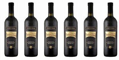 6 Flaschen MERLOT IGT del Veneto, ITALIA, 0,75 Liter 12% Vol Rotwein aus Italien