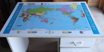 Desk with world map home garden gumtree australia free local world map retro desk gumiabroncs Image collections
