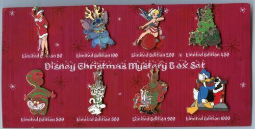 Disney Jessica Cheshire Cat Stitch Tinker Bell Christmas Mystery FULL Pin Set