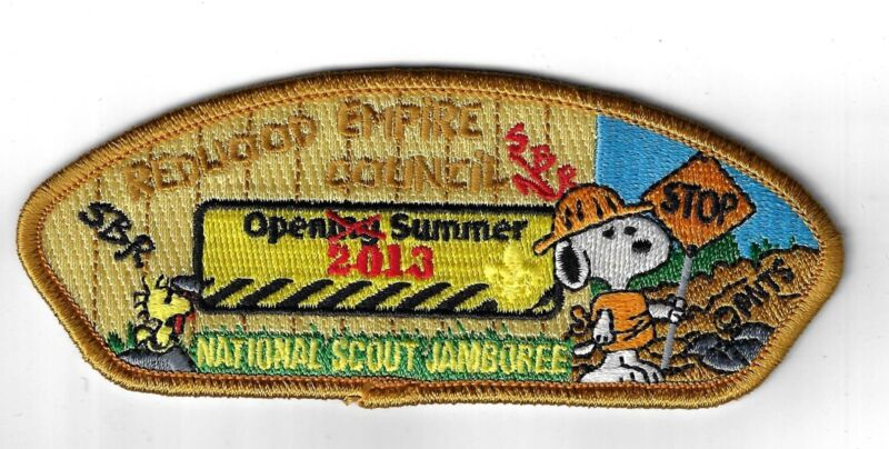2013 National Jamboree JSP SNOOPY Redwood Empire Council BRN Border [ELL-1060]