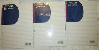 Three Filofax 173008 B5 Deskfax Organizer B5 Ruled Note Paper