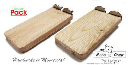 Chinchilla Ledges - Set of 2 - Kiln Dried Pine ledges (Hardware included)