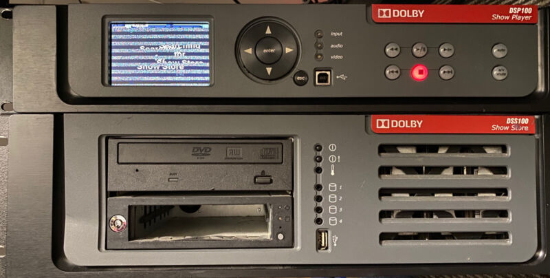 Dolby DSP100 Digital Cinema Show Player & Dolby DSS100 Show Store
